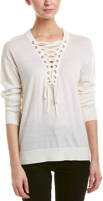 The Kooples Lace-Up Wool Sweater