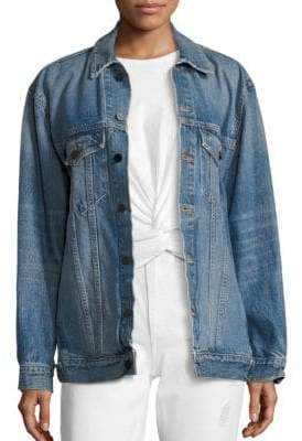 Alexander Wang Denim X Daze Oversized Boyfriend Jacket
