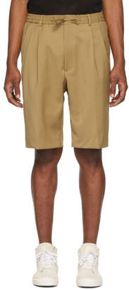 Cmmn Swdn Beige Jayson Double Pleat Shorts