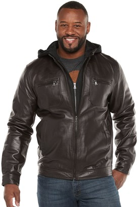 Big & Tall Vintage Leather Leather Racer Jacket