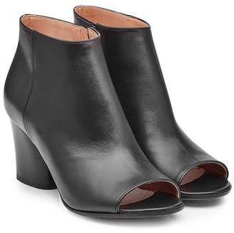 Maison Margiela Leather Ankle Boots with Open Toe
