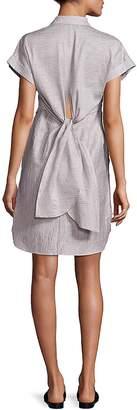 Rag & Bone Women's Ara Textured Tie-Back Shirtdress