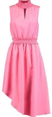 Raoul Sarila Smocked Satin Dress