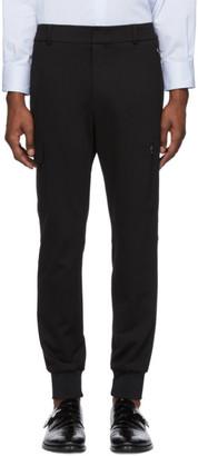 Wooyoungmi Black Cuffed Cargo Trousers