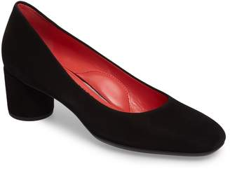 Pas De Rouge Block Heel Pump