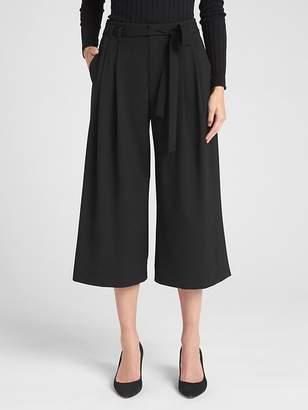 Gap Tie-Belt Crop Wide-Leg Pants