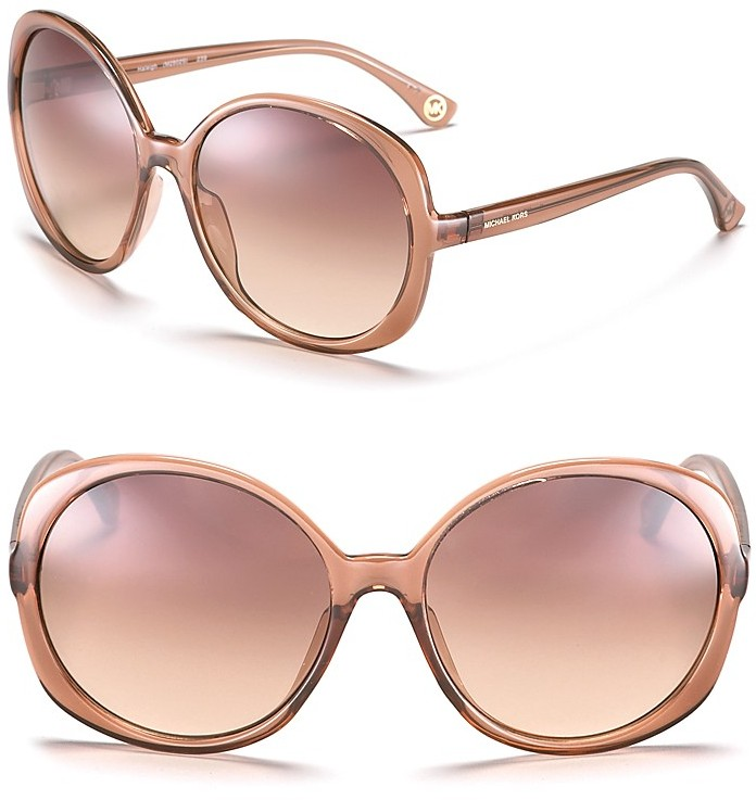MICHAEL Michael Kors Haleigh Round Oversized Sunglasses