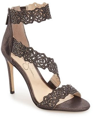 Women's Jessica Simpson 'Geela' Crystal Embellished Sandal $109.95 thestylecure.com