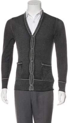 John Varvatos Cashmere Button-Up Cardigan