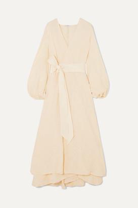 Kalita Gaia Cotton-gauze Wrap Maxi Dress - Cream