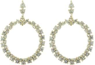 Ruta Reifen Lt. Green Montana Sapphire Show Love Hoops Earrings - Yellow Gold
