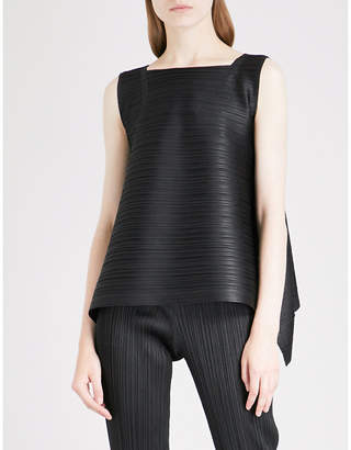 Pleats Please Issey Miyake Asymmetric pleated top