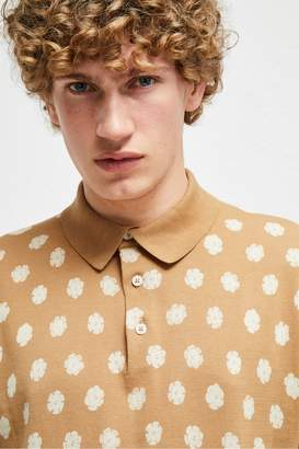 French Connenction Superfine Hibiscus Dot Polo Shirt