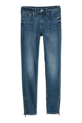H&M Skinny Regular Zip Jeans