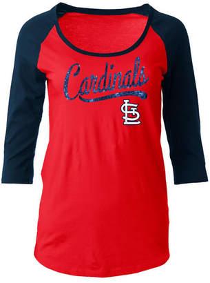 5th & Ocean Women's St. Louis Cardinals Sequin Raglan T-Shirt