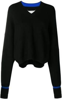 Maison Margiela elongated sleeve V-neck sweater