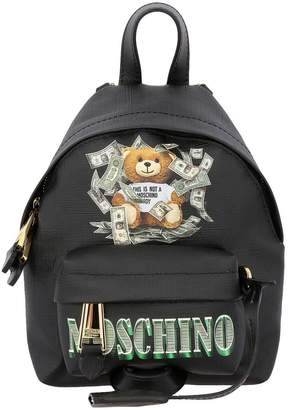 Moschino Backpack Backpack In Ecological Leather With Teddy Dollar