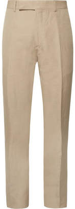 Tom Ford Sand O'Connor Slim-Fit Linen and Silk-Blend Suit Trousers