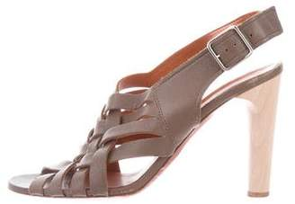 Lanvin Slingback Leather Sandals
