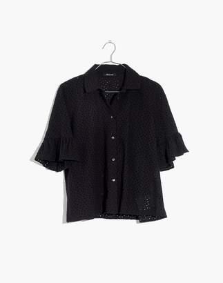 Madewell Eyelet Bell-Sleeve Shirt