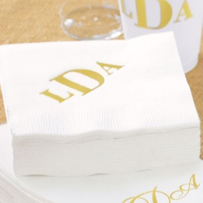 Set of 100 Personalized Cocktail Napkins