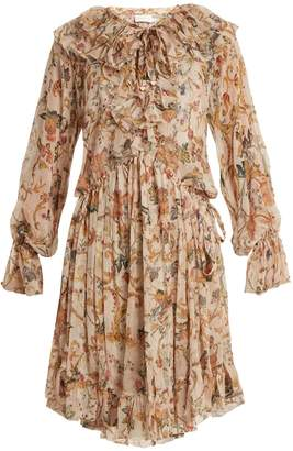 Zimmermann Painted Heart floral-print ruffled silk dress