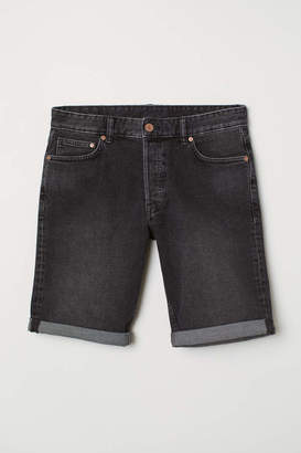 H&M Slim Fit Denim Shorts - Dark gray - Men
