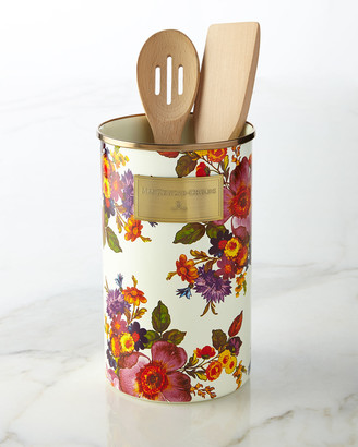 Mackenzie Childs MacKenzie-Childs Flower Market White Utensil Holder