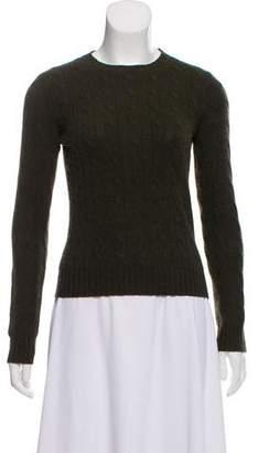 Ralph Lauren Black Label Cashmere Cable Knit Sweater