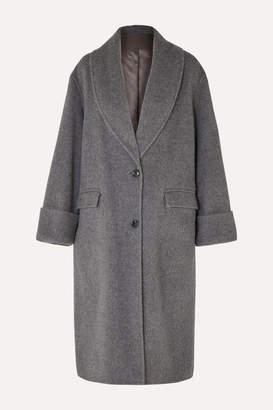 Joseph Kara Wool And Alpaca-blend Coat - Gray