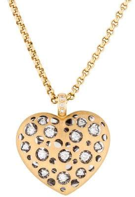 Diamond Cutout Heart Pendant Necklace