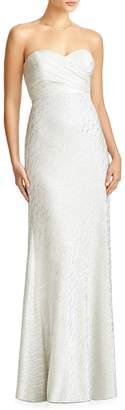 Jenny Yoo JY 'Soho' Metallic Strapless Empire Waist Gown