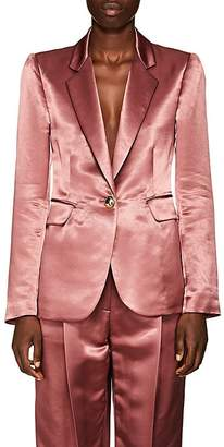 Sies Marjan Women's Kaia Satin Single-Button Blazer