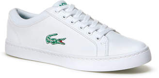 Lacoste Kids' Straightset Lace Leather-look Trainers