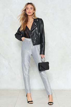 Nasty Gal You're No Glitter Babe Tailored Pants