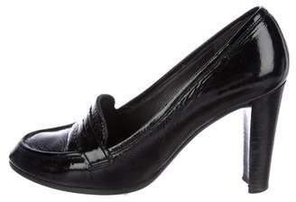 Stuart Weitzman Patent Leather Loafer Pumps