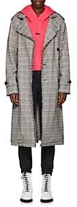 NSF Women's Dorian Plaid Cotton Trench Coat - Gray