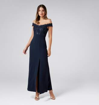 Forever New Bobbie Lace Bodice Gown
