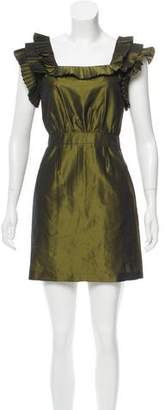 Loeffler Randall Pleated Mini Dress