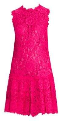 Dolce & Gabbana Pleated Hem Lace Dress