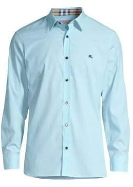 Burberry William Check-Accent Cotton Sport Shirt