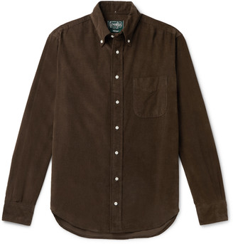 Gitman Brothers Button-Down Collar Cotton-Corduroy Shirt