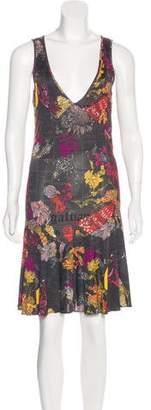 Galliano Printed Knee-Length Dress