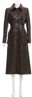 Chanel Paris-Edinburgh Leather Coat