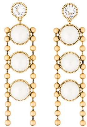 67370f9b9 Marc Jacobs Faux Pearl & Crystal Ball Chain Drop Earrings