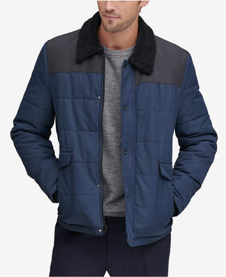 Andrew Marc Men's Howell Quilted Jacket with Fleece-Lined Collar