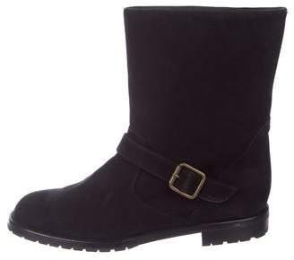 a2cf3f4cbbf2a Manolo Blahnik Suede Mid-Calf Boots