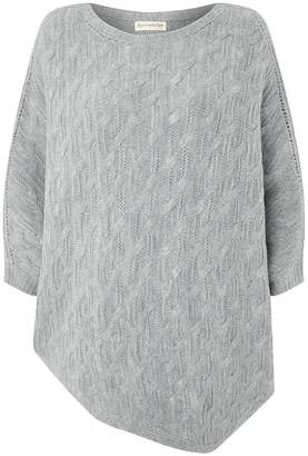 Accessorize Cable Asymetric Poncho
