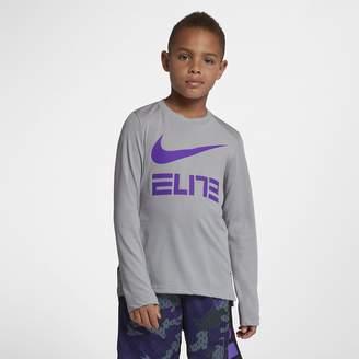 Nike Dri-FIT Elite Big Kids' (Boys') Long Sleeve Basketball Top