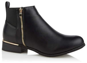 George Krush Black Ankle Boots